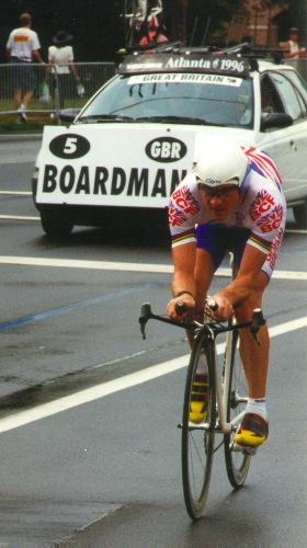 Bronze medalist Chris Boardman during 1996 Olympic Time Trial