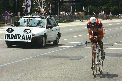 Miguel Indurain takes 1996 Olympic Time Trial gold medal