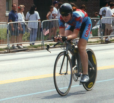 Clara Hughes wins bronze medal in 1996 Atlanta Olympic time trial